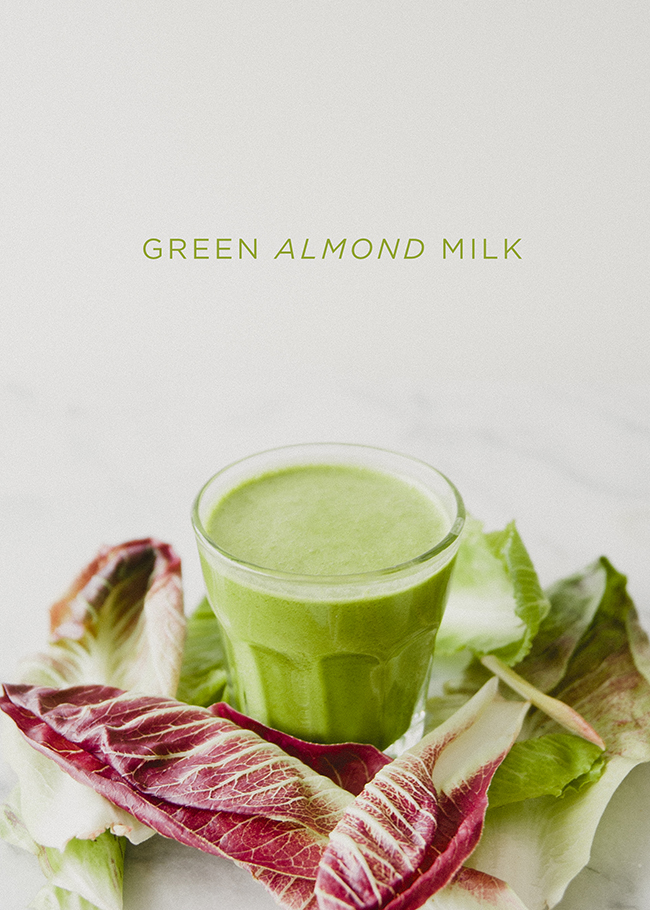 GREEN ALMOND MILK // THE KITCHY KITCHEN