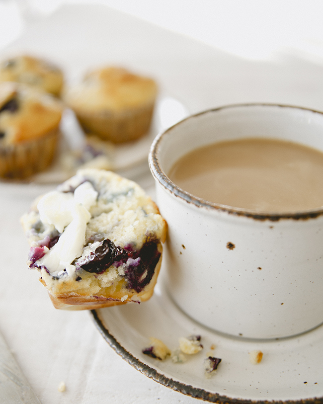 SOUR MILK BLUEBERRY MUFFINS // The Kitchy Kitchen