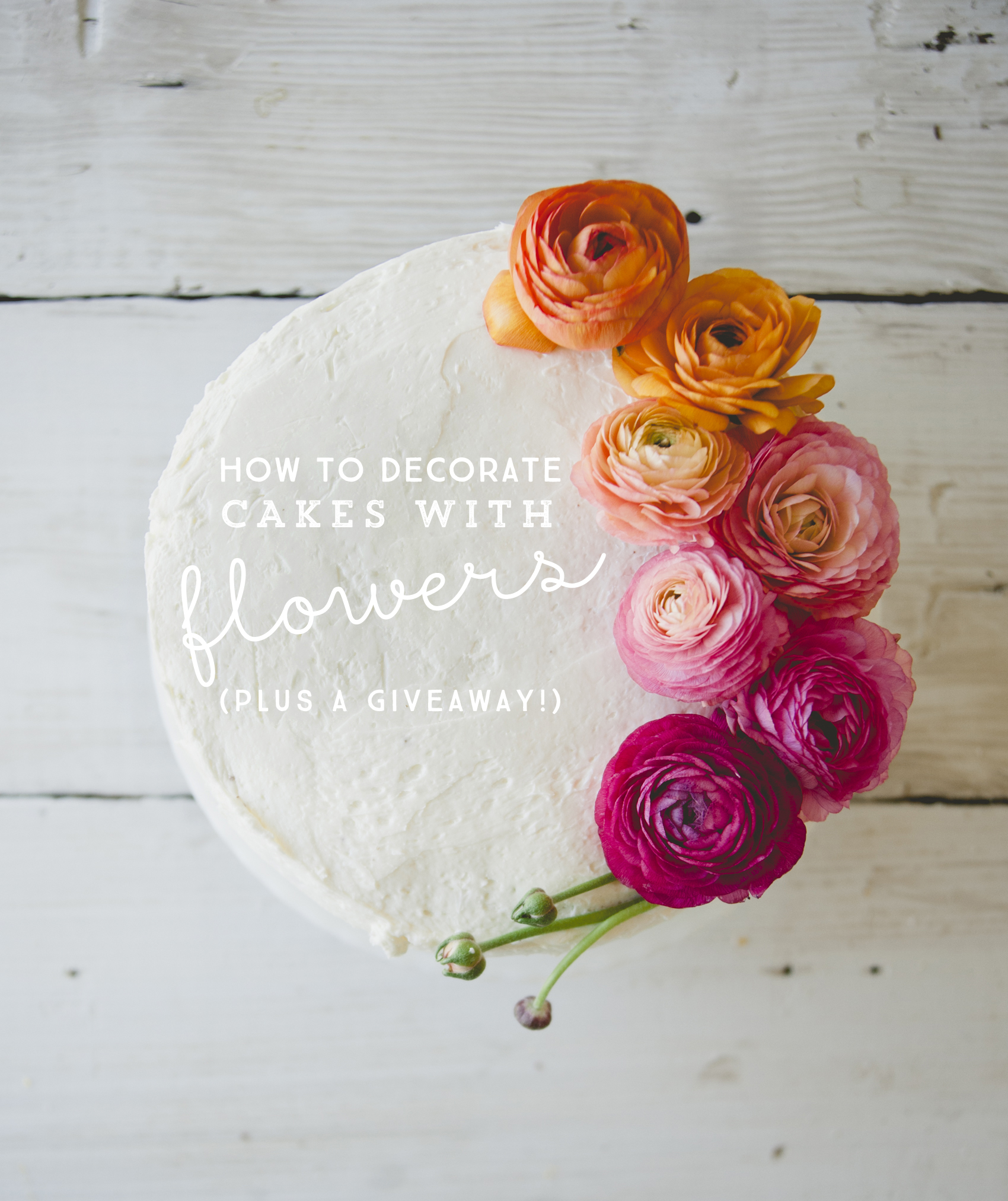 HOW TO DECORATE A CAKE WITH FLOWERS - The Kitchy Kitchen