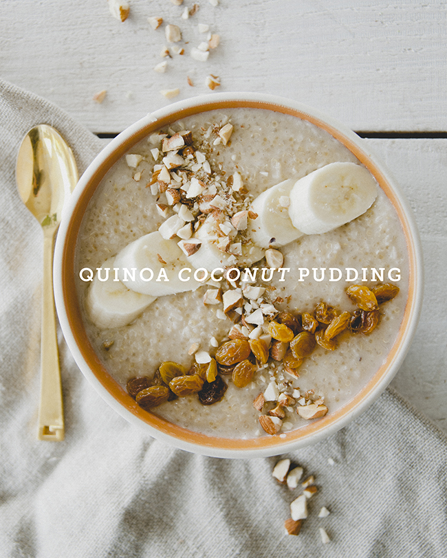 QUINOA COCONUT PUDDING // The Kitchy Kitchen