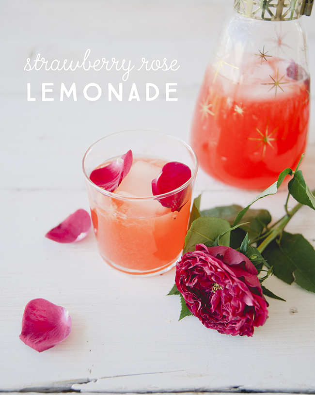 STRAWBERRY ROSE LEMONADE // The Kitchy Kitchen
