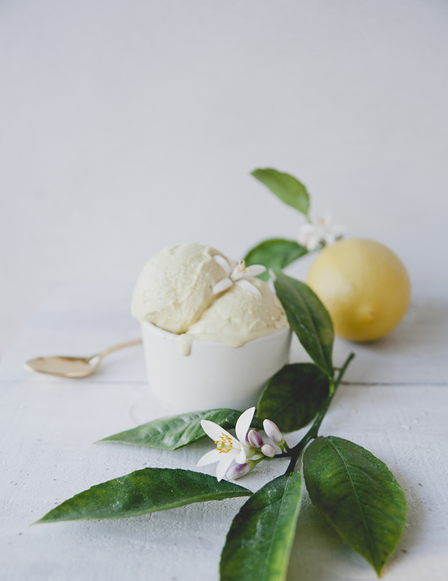 LEMON FLOWER ICE CREAM // THE KITCHY KITCHEN