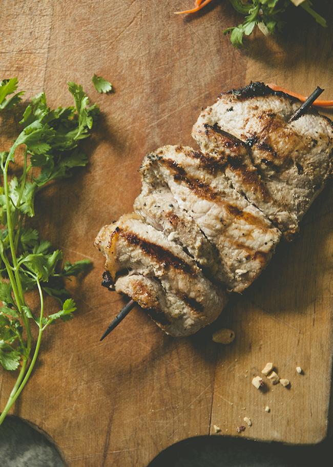 how to make grilled pork for banh mi